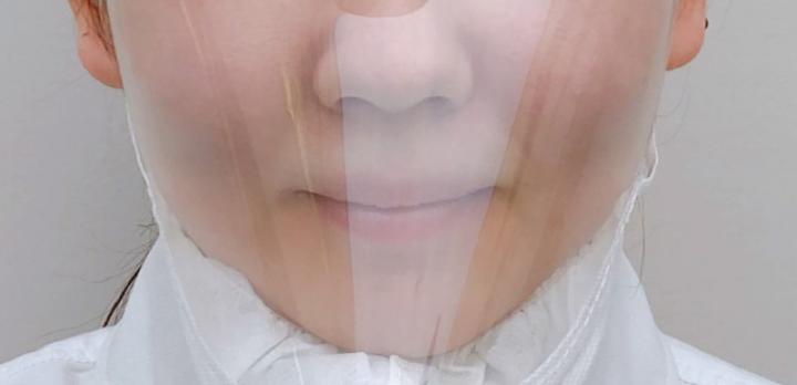 表情を隠さない・口の動きが見える防曇透明マスク「ルカミィ」